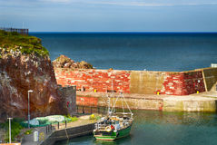 Harbor of Dunbar Royalty Free Stock Photo
