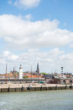 Harbor in Dutch Harlingen Royalty Free Stock Images