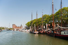 Harbor in dutch village Muiden Stock Photo