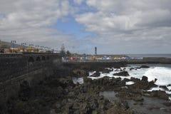 Harbor in ebb-tide Stock Images
