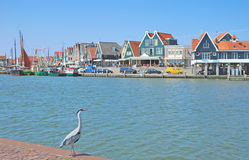 Harbor of Edam-Volendam at Ijsselmeer,Netherlands. Benelux Stock Photo