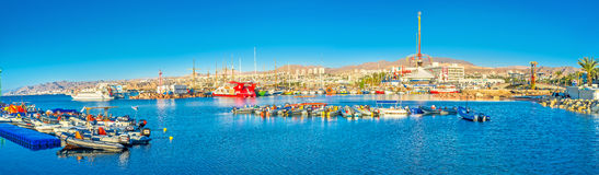 The harbor of Eilat Royalty Free Stock Photos