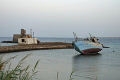 Harbor of el quesir Royalty Free Stock Images