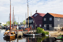 Harbor of Elburg, The Netherlands royalty free stock images