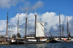Harbor of Enkhuizen Stock Photography
