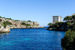 Harbor entrance, Cala Figuera, Mallorca, Mediterranean sea. Royalty Free Stock Image