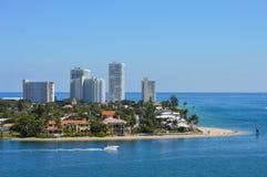 Harbor Entrance. In Fort Lauderdale, Florida stock image