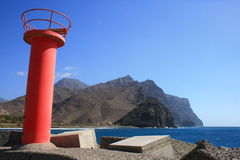 Harbor entrance in gran canaria island Royalty Free Stock Photo