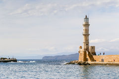 Harbor Entrance with Lighthouse Royalty Free Stock Photo
