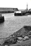 Harbor entrance. Of Lossiemouth harbor in Scotland Royalty Free Stock Photo