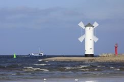 Harbor entrance of Swinoujscie, Poland Royalty Free Stock Photo