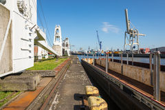 Harbor equipment at the exhibition site of Port Museum Royalty Free Stock Photo