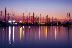 Harbor in the evening Royalty Free Stock Images