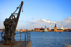 Harbor and Factory - Copenhagen Royalty Free Stock Images