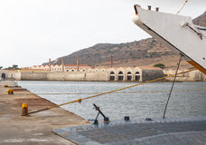 Harbor in Favignana, Sicily, Italy Stock Photos