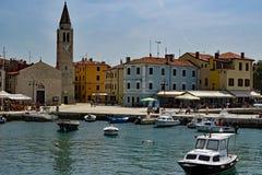 The harbor of Fazana Istria stock photo