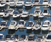 Harbor full of boats stock photo