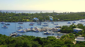 Harbor Filled With Boats and Ocean Background Royalty Free Stock Image