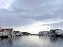 Harbor with fishing boat. S Henningsvaer, Lofoten, Norway Royalty Free Stock Image
