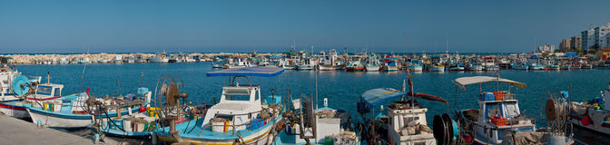 Harbor with fishing boats Stock Photography