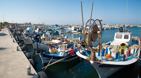 Harbor with fishing boats Royalty Free Stock Image