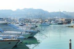 Harbor with fishing boats Stock Photos