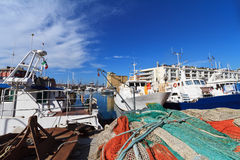 Harbor and fishing boats Royalty Free Stock Image