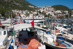 Harbor of the fishing village Kas Royalty Free Stock Images