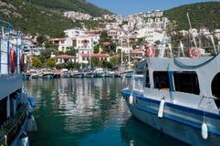 Harbor of the fishing village Kas Stock Photo