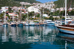 Harbor of the fishing village Kas Stock Image