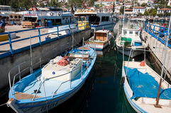 Harbor of the fishing village Kas Stock Photos