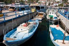 Harbor of the fishing village Kas Stock Photos