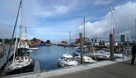Harbor on Foehr Island. Foehr or Föhr is one of the North Frisian Islands on the German North Sea coast. It is located in the federal state of Schleswig Stock Images
