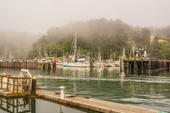 Harbor in Fort Bragg, California Royalty Free Stock Image