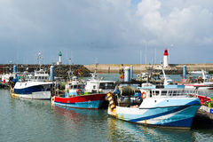 Harbor in France. Harbor in La Cotiniere at island d'Oleron in France stock photo