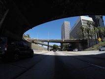 Harbor Freeway Downtown Los Angeles Stock Image
