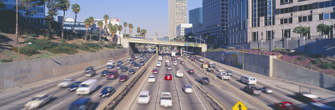 Harbor Freeway at Rush Hour Royalty Free Stock Images