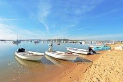 Harbor From Alvor In Portugal