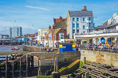 Harbor front at Bridlington East Yorkshire Stock Photos