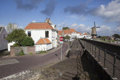 Harbor front of wijk bij duurstede Royalty Free Stock Photos