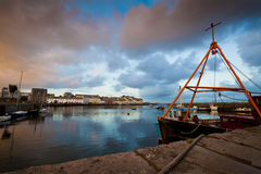 Harbor of Galway City at Sunset. Royalty Free Stock Images