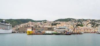 The harbor in Genoa, Italy. Royalty Free Stock Photography