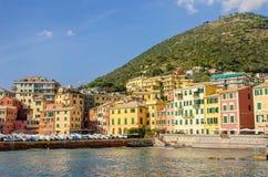 Harbor of Genoa Nervi Stock Image