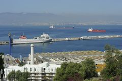 Harbor of Gibraltar Royalty Free Stock Images