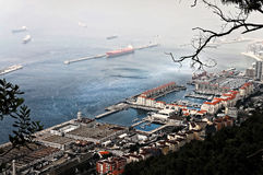 Harbor of Gibraltar Stock Images