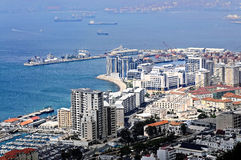 Harbor of Gibraltar stock photography