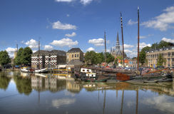 Harbor of Gouda Royalty Free Stock Image