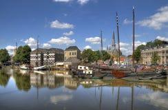 Harbor of Gouda royalty free stock image