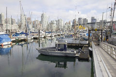 Harbor by Granville Island Bridge in Vcancouver BC Stock Photos