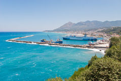 Harbor in Greece Royalty Free Stock Image